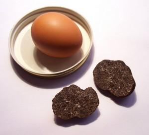 recette Œuf brouilles au jambon sec et aux truffes