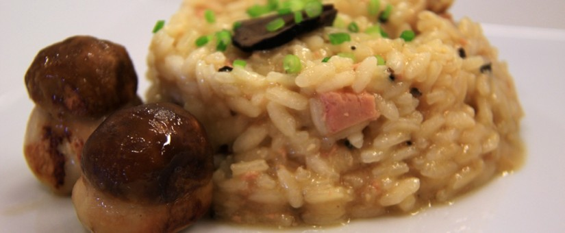 Risotto with boletus and black truffle