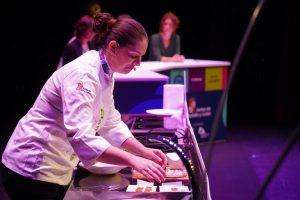 The chef Elena Lucas from the Michelin Star restaurant La Lobita in Soria