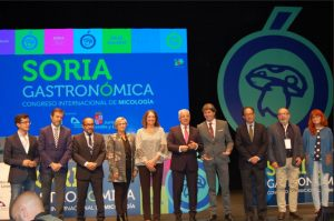 Authorities in the presentation of the VI Congress Soria Gastronómica