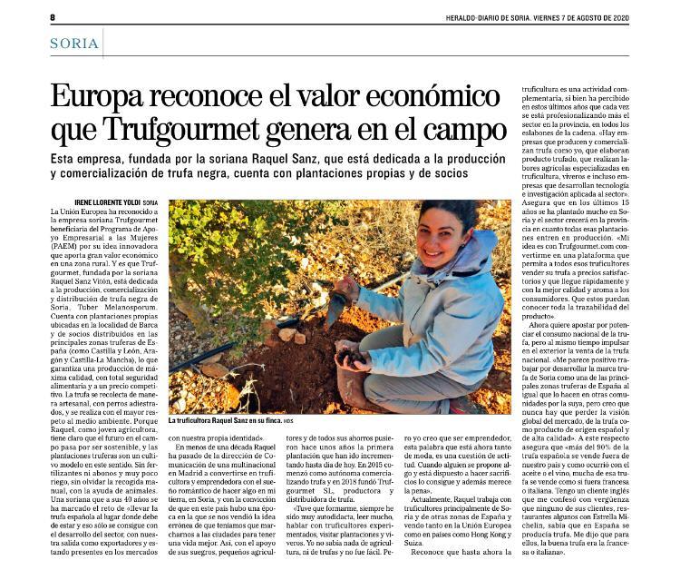Reportaje publicado en El Mundo- Heraldo- Diario de Soria